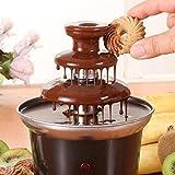 Mini Portable 3-tier Chocolate Fountain Machine Fondue Maker Heated PC Plastic Home Party Fountain EU Plug Regard - 8