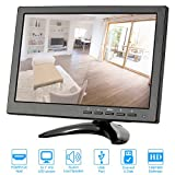 KKmoon Monitor 10,1 Zoll LED IPS HD mit HDMI/VGA/BNC/AV/USB-Eingang Empfänger unterstützen HDMI 1080p/1080i Lautsprecher U Festplatte PAL/NTSC Adaptive für CCTV-Kamera-Überwachungssystem