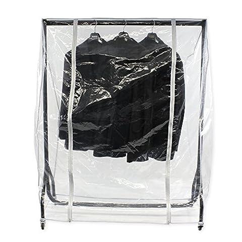 Abdeckhaube für Kleiderständer mit der Breite 180cm, Transparente Schutzhülle mit zwei (Schutzhülle Für Kleiderständer)