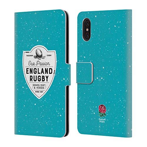 Head Case Designs Offizielle England Rugby Union Grass Dirt and Heroes 2017/18 Erbschaft Brieftasche Handyhülle aus Leder für Xiaomi Mi 8 Pro