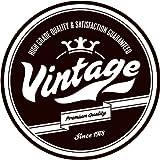 Vintage High Grade Quality 1978 Round Stamp Alta Calidad De Coche De Parachoques Etiqueta Engomada 12 x 12 cm