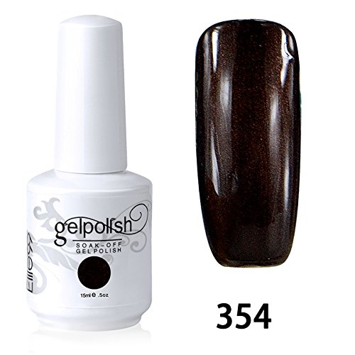 Elite99 Vernis A Ongles Gel UV Soak Off Base Top Nail Art Semi-Permanent Manucure 15ml 354