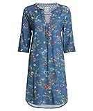 PiP Studio Damen Nachthemd Drew Birdy Langarm blau (51) L