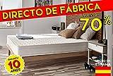 Naturalex - Colchón Deluxe 90 x 190 cm de espuma con efecto de memoria Blue Latex® + espuma visco elástica Viscotex® + 7 zonas de confort