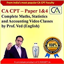 CA CPT Complete Maths, Statistics and Accounting video lectures by Prof.Ved (English)