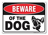 Vintage Wand Deko Schild Beware of The Dog Achtung Hund Schild Metall Post Plaue für Frauen Herren