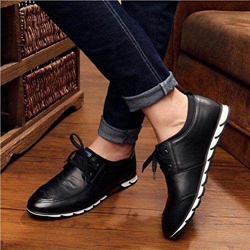 Hommes chaussures automne mode cent chaussures occasionnelles tête de vache de couche Black