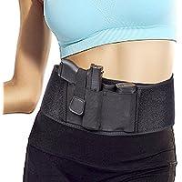 LoveUlife Ajustable Concealed Carry Funda de Pistola de Banda de Cintura elástica Mano Pistola Soporte para Pistolas revólveres, para Hombres y Mujeres
