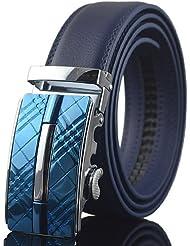 AQAQ Hombre Cuero Cinturón Ancho Trabajo / Casual Todas Las Temporadas , Blue , One-Size