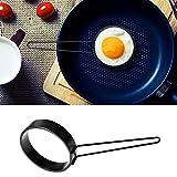 HKFV Antihaft-Eier Fritteuse Griff Runde Ei Ringe Shaper Pfannkuchen Formen Ring Antihaft-Spiegelei-Omelett