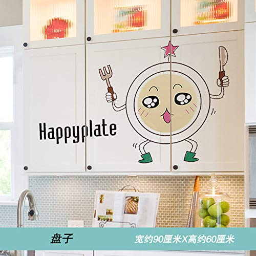 Refrigerator Sticker 3D Stereo Wall Paste Creative Personality Kitchen Waterproof Self-Adhesive Wallpaper Can Scrub Cabinet Restaurant Stickers Plate Stereo-wall Plate