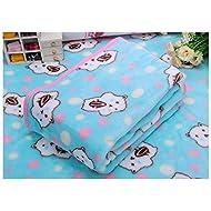 La vie Couverture Chien Polaire Animal Coussin en tissu doux et chaud Couverture de lit pour chien chat animaux de petite et moyenne taille S/L