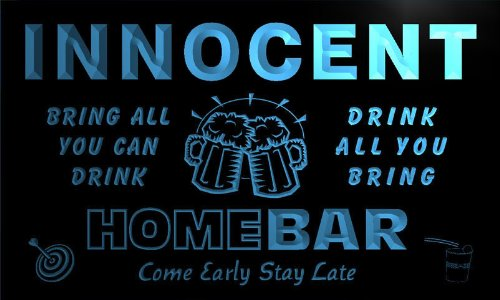 q21603-b-innocent-family-name-home-bar-beer-mug-cheers-neon-light-sign