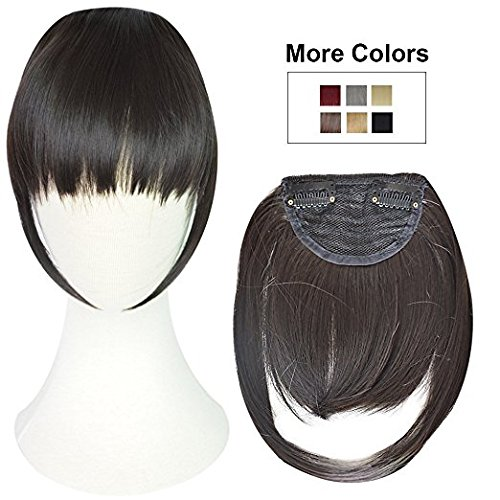 Synthetic Front hair fringes extensions for women (Dark Brown)