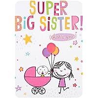 "Hallmark Birth Of Baby Card""Best Big Sister"" - Medium"