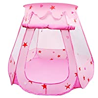 BelleStyle Kids Play Tent, Pop Up Princess Children Ball Pit Pool Tent House for Kids Indoor and Outdoor Use