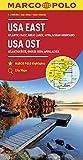 MARCO POLO Kontinentalkarte USA Ost 1:2 000 000: Große Seen, Appalachen, Atlantikküste, Florida (MARCO POLO Kontinental /Länderkarten) - Collectif
