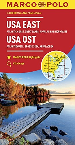 MARCO POLO Kontinentalkarte USA Ost 1:2 000 000: Große Seen, Appalachen, Atlantikküste, Florida: Wegenkaart 1:2 000 000 (MARCO POLO Kontinental /Länderkarten)
