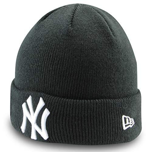 New Era Unisex Kids Kinder Junge Mädchen Streetwear Cuff Knit Beanie Strickmütze Long Beanie gemütliche Passform Mütze Wintermütze Schwarz -