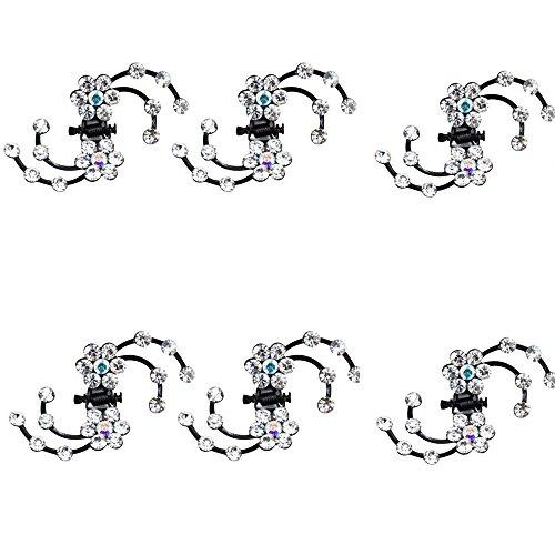 Contever® 6 pezzi Artificiale di Cristallo Barrettes