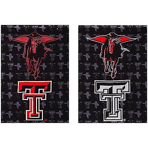 Texas Tech Red Raiders due facce glitter accentati House Flag
