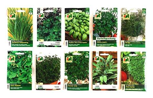 10 variedades | Surtido de semillas de hierbas | más de 60000 semillas de hierbas | Paquete de ventaja | a partir de ahora el precio de promoción de invierno