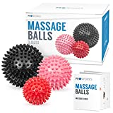 Proworks Spiky Massage Balls | Trigger Point Deep Tissue Roller Set for Muscle Recovery, Reflexology and Stress Relief - Set of 3