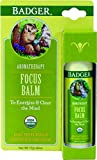 Badger Aromatherapy Focus Stick Balm Energize & Clear The Mind 17g