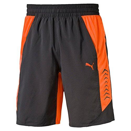 Puma Herren Hose Vent Stretch Woven Shorts Asphalt/Shocking Orange, M -