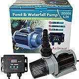 Jebao TSP ECO Teich Koi Filterpumpe DM Pumpe, 34-187 Watt, Förderhöhe 7 Meter elektronisch regelbar mit Controller - TSP 20000