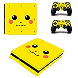 AGSP® PIKACHU POKEMON PS4 SLIM Console and DualShock 4 Controller Skin Set - PlayStation 4 Slim Vinyl