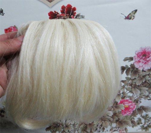 20,3 cm couleur : Blond Blanc (# 60) cheveux humains véritables cheveux Fashion avant Neat Bang franges One cheveux