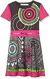 Desigual Mädchen Kleider VEST_ALBANY, Grau (Jet Black 2084), 128 (Herstellergröße:7/8)