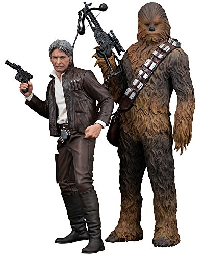 Kotobukiya- Star Wars Episode VII Han Solo/Chewbacca Figurine, 4934054903269