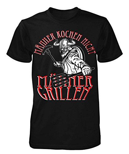 Männer Grillen T-Shirt Neu Fun Wikinger Götter Odin Thor Germanen Kult Retro Schwarz