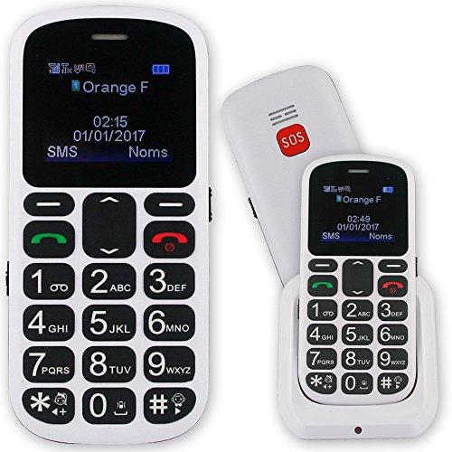 Mobiho-Essentiel le Classic SALSA couleur Blanche - Téléphone Senior simple - malentendant - DEBLOQUE TOUT OPERATEUR.