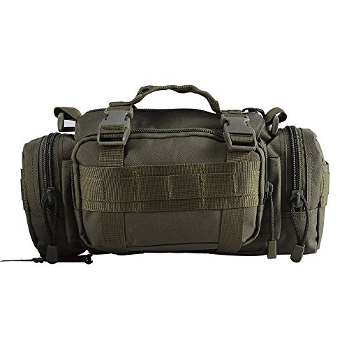 YAKEDA®Freien Multifunktionsrucksackbeutel für Männer und Frauen taktischer Rucksack Reiten Taschen Freizeit Kiste packen Schulter diagonal Rucksack 10L - B88023 (Wüsten-Tarnung) Militärgrün