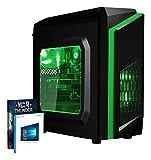 Vibox FX 10 Desktop PC da Gaming, Processore AMD FX 8300, 3.3 GHz, HDD da 1 TB, 8 GB di RAM, Scheda Grafica nVidia GeForce GTX 1050, Verde