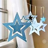 XSYYQYLL 7pcs / Lot Twinkle Star Papier Anhänger Garland Ornamente Weihnachtsdekorationen for Haus Neujahr Natal Noel-Dekor Navidad 2019 (Color : 4)