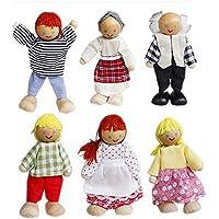 6 de alta calidad Miembros de la familia encantadora Muñecas Juguetes Niños Niñas Jugar House Toys - Peluches y Puzzles precios baratos