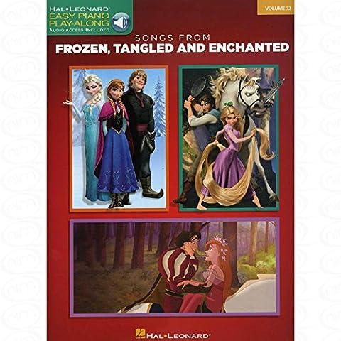 Songs from Frozen Tangled and Enchanted - arrangiert für Klavier [Noten/Sheetmusic] aus der Reihe: Easy piano play along 32