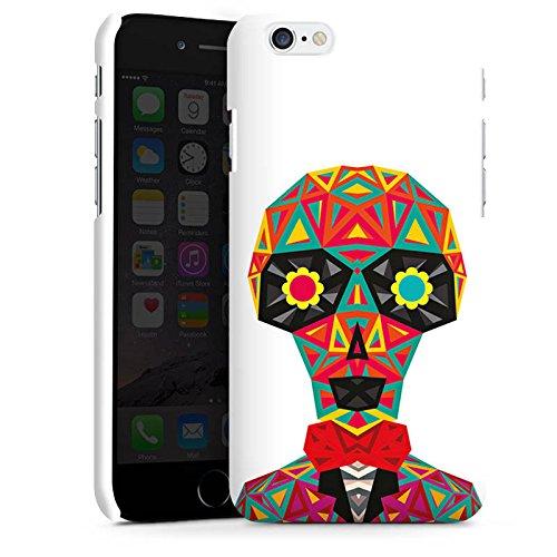 Apple iPhone X Silikon Hülle Case Schutzhülle Geometric Skull Totenkopf Schädel Premium Case matt