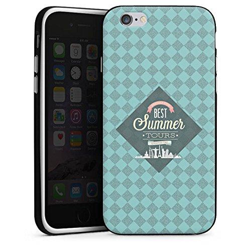 Apple iPhone X Silikon Hülle Case Schutzhülle sommer Reise Statement Silikon Case schwarz / weiß