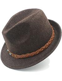 IWGR Cappello in Feltro per Uomo Chapeau Femme Cappello Fedora per  Gentleman Sombrero Trilby Church Derby e8615c694238