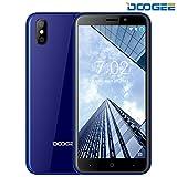 Smartphone ohne Vertrag, DOOGEE X50 Dual Sim Android 8.1 Handy, 3G Smartphones - 5.0 Zoll HD IPS - MT6580M Quad Core Prozesso - 1GB RAM + 8GB ROM - Dual 5.0MP Rückfahrkamera - 2000mAh - Dual SIM (Blau)