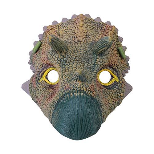 Hffan Neuheit Halloween Kostüm Party Tierkopf Maske Dinosaurier Party Triceratops der Dinosaurier Masken Cosplay Spielzeug Dinosaurier Latex Kostüm Stütze Unheimlich Maske (Von Liste Kinder-halloween-filme Eine)