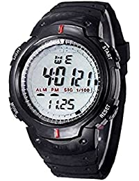 EDEAL Sports Digital Black Dial Watch With Stopwatch, Alarm For Men's And Boy's - EDLEDUW007