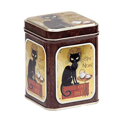 Aromas de Té - Lata para Té Le Chat Noir Moulin Rouge/Caja de Lata para Té/Lata Moulin Rouge para Infusiones Diseño Le Chat Noir, 100 gr