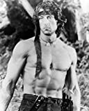 Sylvester Stallone de John J. Rambo in Rambo: First Blood Part II 50x40cm Photographie en noir et blanc