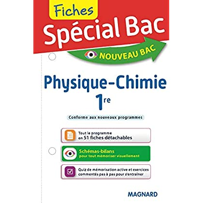 Fiches Physique-Chimie 1re
